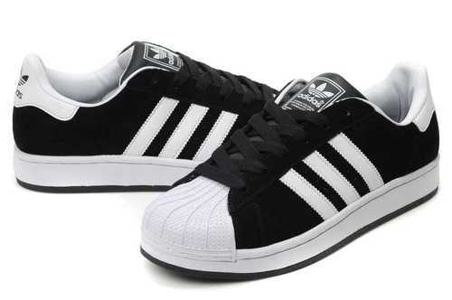 Adidas Superstar New Black Whitestripes Imported Sport Shoes