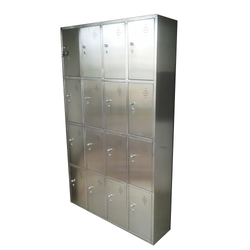 Key Lock SS Storage Locker For Industrial, Size: 1950 H X 1200 W X 280 D Mm