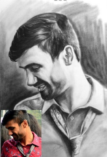 Realistic pencil portrait