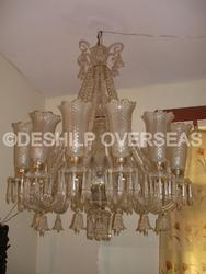 Clear Cutting Chandelier