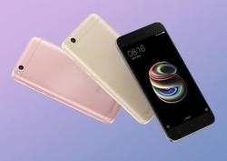 Silver And Rose Gold Redmi 5A Mobile Phone