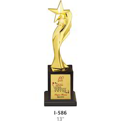 Designer Metal Star Trophy