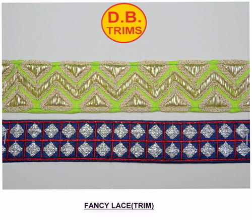 Fancy Metallic Embroidered Lace (Trim)