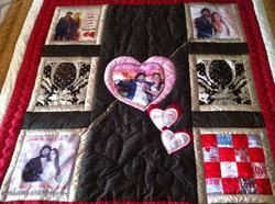 Personalised Wedding Night Quilt