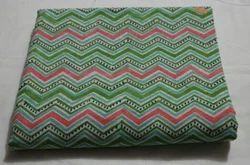 Sanganeri Zig Zag Block Printed Fabric