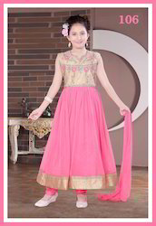 Pink Cute Anarkali Suits