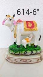 Polyresin Cow and Calf Statue