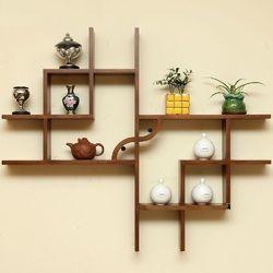 Wonderful Wooden Wall Shelves, Lakdi Ke Shelf   Idecor Interiors, Pune | ID:  13005837933