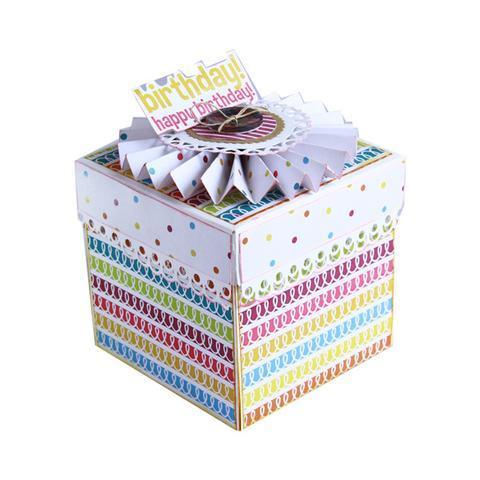 Handmade Birthday Cake Explosion Box 3s Photo Art Pvt Ltd