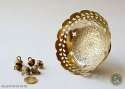 Gold Beautiful Brass Flower Bowl