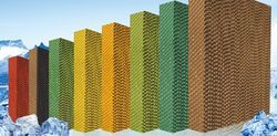 Yellow Green Evaporative Cooling Pad
