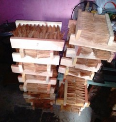矩形中等椰子刷,用于清洁