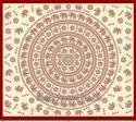 Printed Square Elephant Flower Manadala Indian Print Tapestries