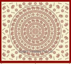 Elephant Flower Manadala Indian Print Tapestries