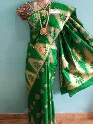 Orenge Row Silk Saree