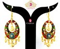 Rajasthani Meena Earrings in Gold Plated