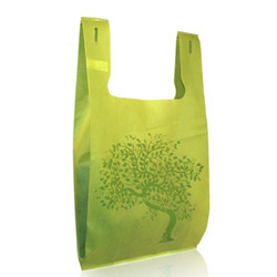 Green Plastic Grocery Bag