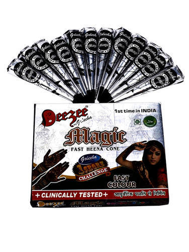 Dezee Magic Fast Henna Cone Black Color Tattoo Body Art Meh At Rs