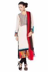 Long Pakistani Style Designer Ladies Salwar Suit Long Kurti