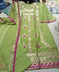 Limefab Chanderi Party Wear Gota Patti Salwar Kameez