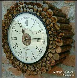 Brown Analog Wooden Wall Clock