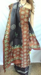 Hand Block Printed Stylish Designer Pure Silk Suit