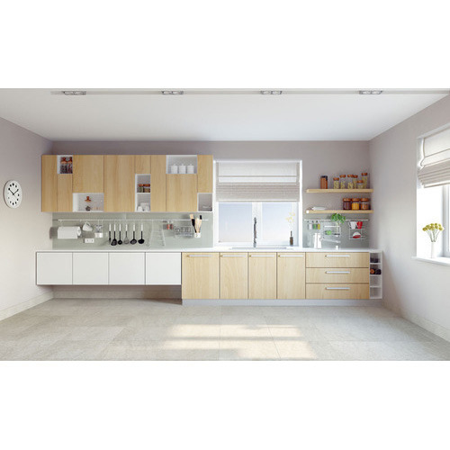 L Wooden Modular Kitchen Manufacturer: Straight Modular Kitchen Manufacturer
