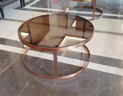 Rose Gold Round Coffee Table Diameter 30 Inch Rs 9500 Piece Super Fine Enterprises Id 20150223230