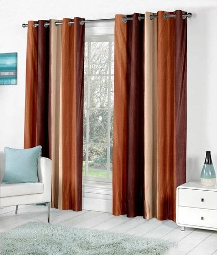 Fancy Brown Heavy Door Window Curtains