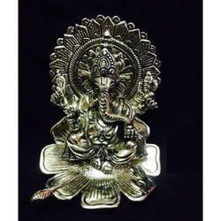 Raja Ganesh Metal Statue