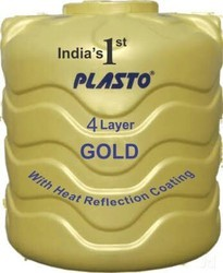 Plasto Gold 4 Layer Water Tank, Capacity: 250-500 L