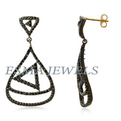 Black Pave Diamond Earring