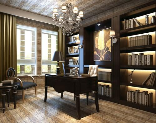 Study Room Interior In Ghaziabad By Khanak Interiors