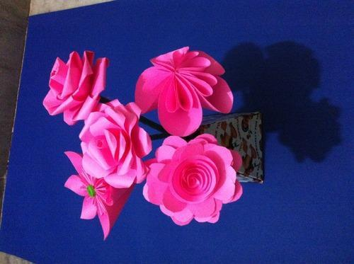 Eco friendly handmade pink paper flowers at rs 30 piece boduppal eco friendly handmade pink paper flowers mightylinksfo