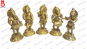 Lord Ganesh Standing Playing Musical Set Of 5 Pcs