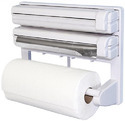 Triple Paper Dispenser for Cling Film Wrap Aluminium Foil