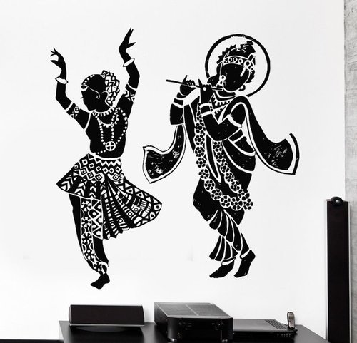 radha krishna dancing wall stickers at rs 399 /piece(s) | lal kuan