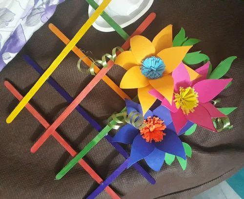Milty Colour Paper & Wooden Wall Decorative Flowers, Rs 100 /unit ...