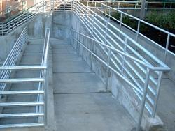 Silver Ramp Stainless Steel Railing