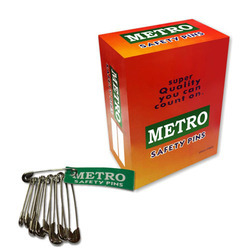 Metro Safety Pin - Steel -Nickel