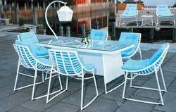 Jasper Style Wicker Dining Table Set