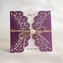 laser cut design invitation card designer boxed wedding