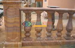 Stone Railing In Rainbow Sand Stone