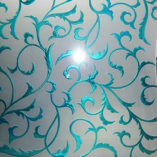 Colour Crystal Etched Glass Colour Crystal Etching On