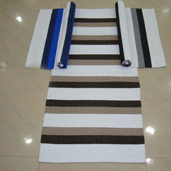 Plastic Striped Rugs