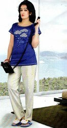 Cotton Ladies Printed Night Suit