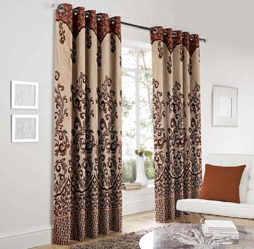 Beautiful Heavy Jute Designer Panel Door Curtain