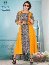 Long Cotton Designer Kurtis