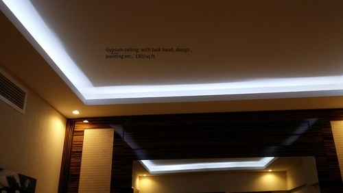 Gypsum Ceiling With Bulkhead At Rs 180 Square Feet