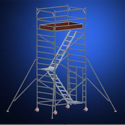 Double Width Scaffold With Stair
